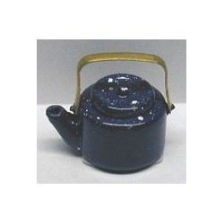 BLUE SPATTER TEA KETTLE