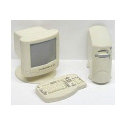 4PC WHITE COMPUTER SET