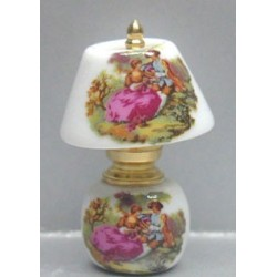 CHINA/BRASS LAMP - FR. COUPLE