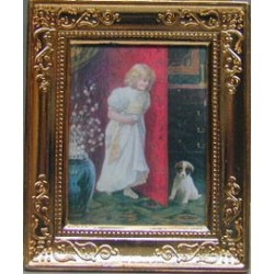 GIRL/DOG METAL FRAME 2 X 2 3/4