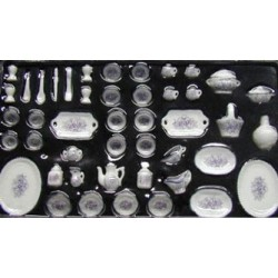 51 PC DINNER SET- MED PURPLE