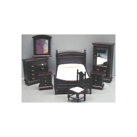 7 pc mahogany bedroom set dollhouse bedroom sets