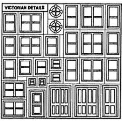VICTORIAN DETAIL SHEET 1/2IN SCALE