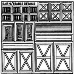 BARN STABLE DETAIL SHEET 1/2IN SCALE