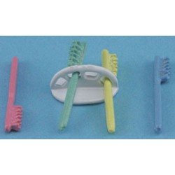 TOOTHBRUSH HOLDER W/ 4 TOOTHBRUSHES
