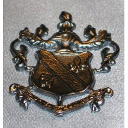 COAT OF ARMS, LARGE, SILVER