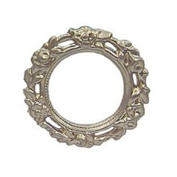 ROUND ORNATE PICTURE FRAME GOLD