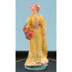VICTORIAN LADY FIGURE (YELLOW)