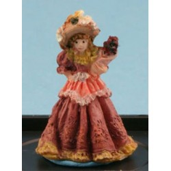 VICTORIAN LADY FIGURINE (DUSTY ROSE)