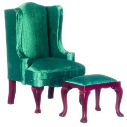 Wingback Chair Green