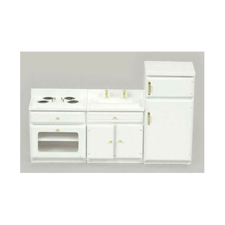 WHITE APPLIANCE SET, 3PC