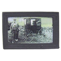 MAIL WAGON FRAMED PICTURE REPRO PRINT