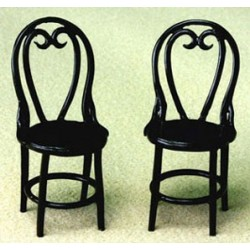 2 Cafe Chairs, Brown