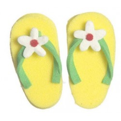 Flip Flop W/flower, Yellow