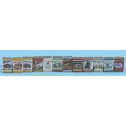 Country Store Grocery Tins, 24pk
