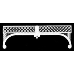 Grilles: Painted Lady, 2/pk, 9-3/8 Wide