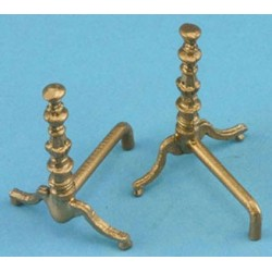 Gold Andirons-pair