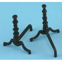 Black Andirons-pair