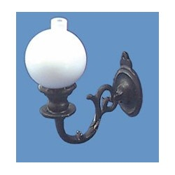 Sconce W/ball-black