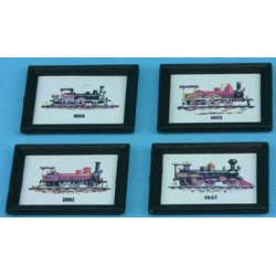 Train Prints/set Of 4