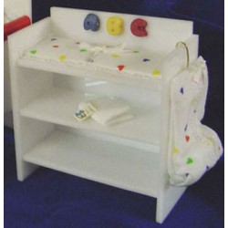 Acrylic Dressing Table- White