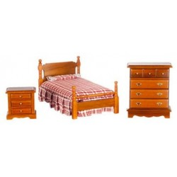 Bed Set 3 Walnut Cs