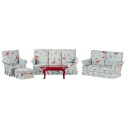 Mahogany Living Room Set 5pc