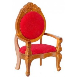 Mirrorback Armchair Red