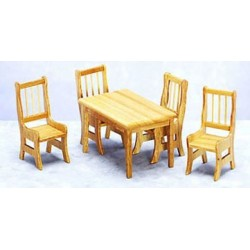 Light Wood Dining Set 5pc