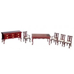 Qa Dining Room 6 Pc Mahogany