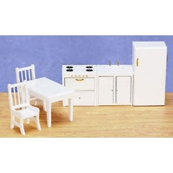 Kitchen Set 6 White Cs