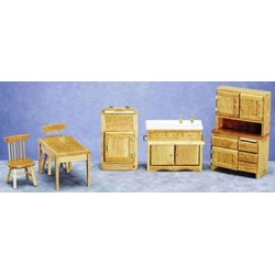 Kitchen Set Oak 6 Pc Cs