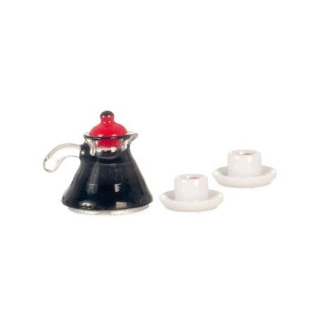 coffee pot 2 cups coffee dollhouse kitchen accessories superior dollhouse miniatures