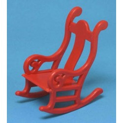 Rocking Chair Red Plastic