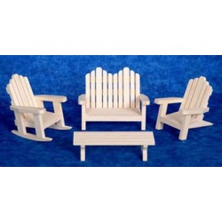 Adirondack FurnSet 4 Pin