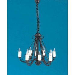 Wrought Iron Chandelier Black