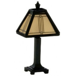 Craftsman Tiffany Lamp Black