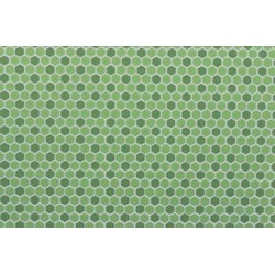 Tile Hexagons 12 x 16 Light Green Dark Green
