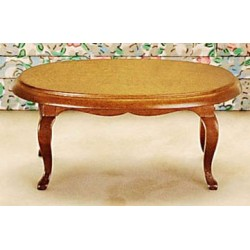 Oval Coffee Table Walnut Cb