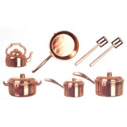 Copper Kitchenware 10Pc