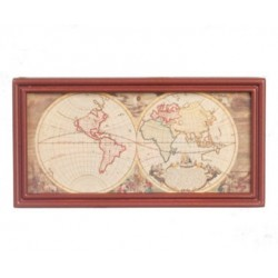 Ancient Map Wood Color Fr