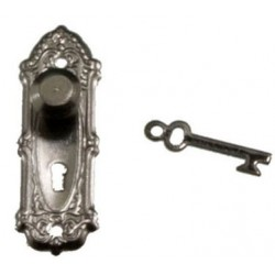 Opryland Door Handle Set W Key 2 Pk Black