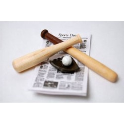 Baseball Set With Wood Bats