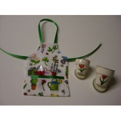Garden Apron Tools and Flower Pots