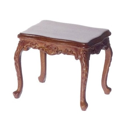 Walnut Rococo Side Table Dollhouse Platinum Collection Superior - Rococo side table