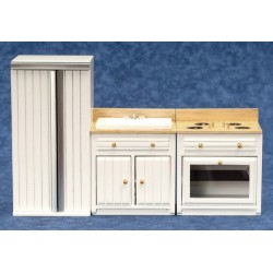 Appliance Set Oak & White, 3/pc