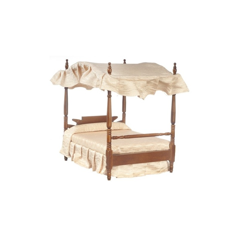 double canopy bed walnut dollhouse beds superior