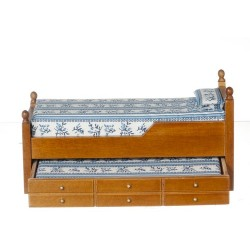 Trundle Bed/blue/waln/cb