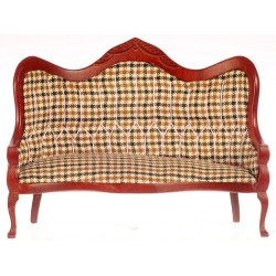 Victorian Sofa/plaid/Mahogany