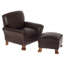 Leather Chair/ott/brown/wal